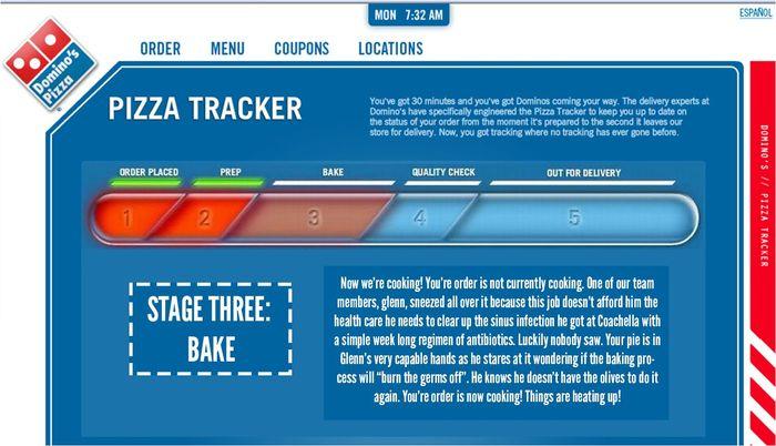 餐飲股有哪些可以投資:達美樂的Pizza Tracker,可以追蹤披薩的配送進度