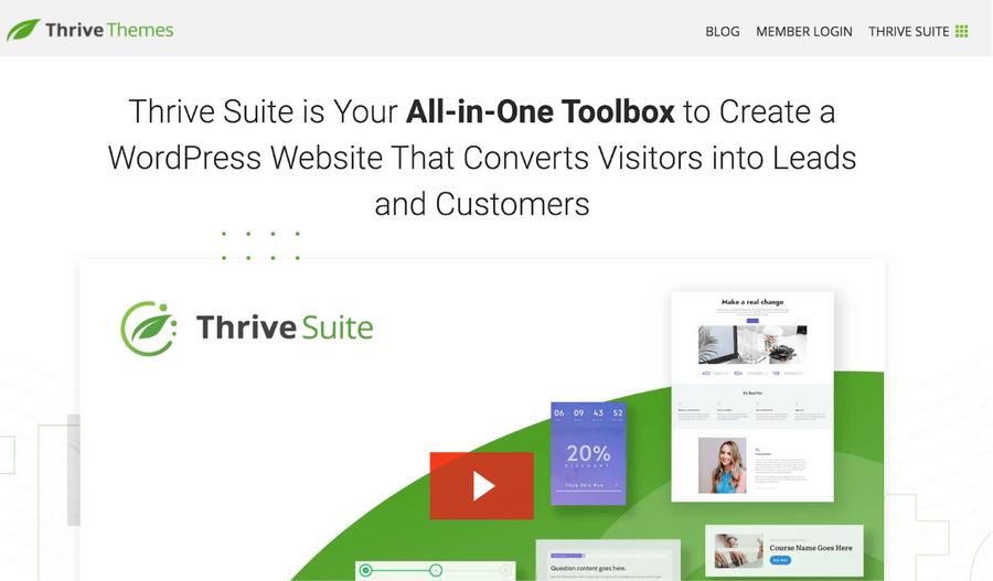 佈景主題推薦:Thrive Themes